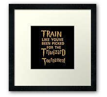 train tournament Framed Print