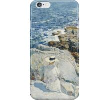 Vintage famous art - Childe Hassam - The South Ledges, Appledore iPhone Case/Skin