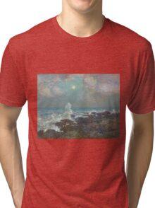 Vintage famous art - Childe Hassam - Seascape-Isle Of Shoals Tri-blend T-Shirt
