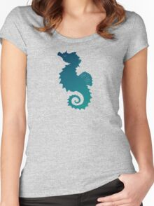 Seahorse of a Different Color ~ Marine Life Women's Fitted Scoop T-Shirt