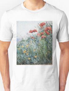 Vintage famous art - Childe Hassam - Poppies, Appledore Unisex T-Shirt