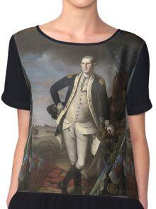 Vintage famous art - Charles Willson Peale - George Washington Chiffon Top