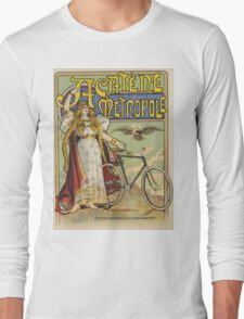 Vintage famous art - Charles Tichon - After Lucien Baylac - Acatene Metropole Poster  Long Sleeve T-Shirt
