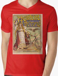 Vintage famous art - Charles Tichon - After Lucien Baylac - Acatene Metropole Poster  Mens V-Neck T-Shirt