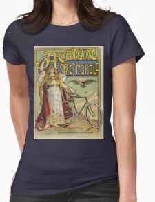Vintage famous art - Charles Tichon - After Lucien Baylac - Acatene Metropole Poster  Womens Fitted T-Shirt
