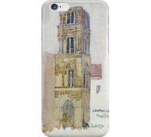 Vintage famous art - Charles Rennie Mackintosh  - Palermo, Campanile Martorana iPhone Case/Skin