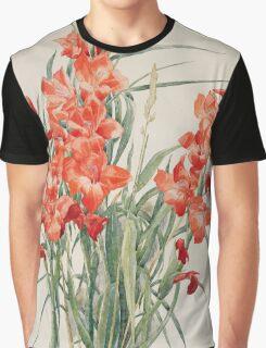 Vintage blue art - Charles Demuth - Red Gladioli Graphic T-Shirt