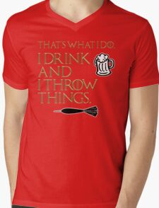 I Drink And I Throw Things Mens V-Neck T-Shirt