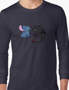 Stitch and Toothless Love Long Sleeve T-Shirt