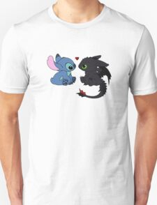 Stitch and Toothless Love Unisex T-Shirt