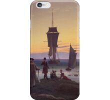 Vintage famous art - Caspar David Friedrich  - The Stages Of Life iPhone Case/Skin