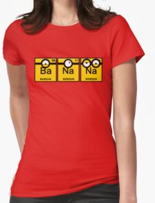 Minion Banana Periodic Table Womens Fitted T-Shirt