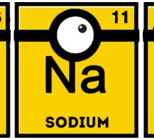 Minion Banana Periodic Table Sticker