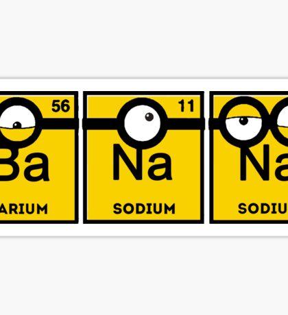 Yellow Banana Periodic Table Sticker