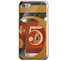 Vintage famous art - Charles Demuth - I Saw The Figure 5 In Gold iPhone Case/Skin