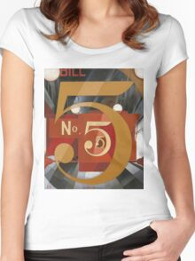 Vintage famous art - Charles Demuth - I Saw The Figure 5 In Gold Women's Fitted Scoop T-Shirt