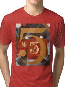 Vintage famous art - Charles Demuth - I Saw The Figure 5 In Gold Tri-blend T-Shirt