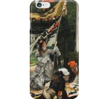 Vintage famous art - James Tissot - Still On Top iPhone Case/Skin