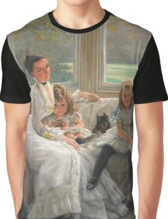 Vintage famous art - James Tissot - Smith Gill And Two Of Her Children Graphic T-Shirt