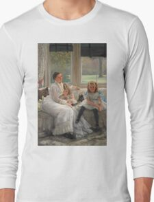 Vintage famous art - James Tissot - Smith Gill And Two Of Her Children Long Sleeve T-Shirt