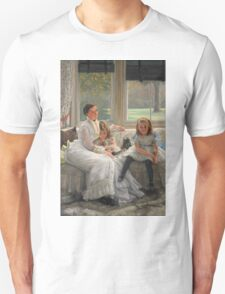 Vintage famous art - James Tissot - Smith Gill And Two Of Her Children Unisex T-Shirt