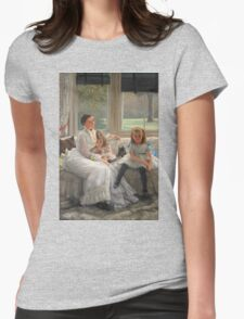 Vintage famous art - James Tissot - Smith Gill And Two Of Her Children Womens Fitted T-Shirt