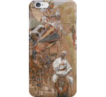 Vintage famous art - James Tissot - Rebecca Meets Isaac By The Way iPhone Case/Skin