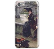 Vintage famous art - James Tissot - Richmond Bridge iPhone Case/Skin