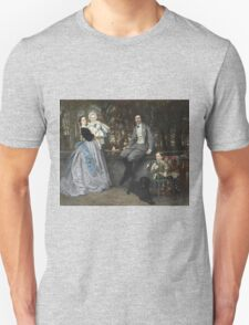 Vintage famous art - James Tissot - Portrait Of The Marquis And Marchioness Of Miramon And Their Children1865 Unisex T-Shirt