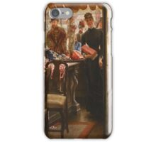 Vintage famous art - James Tissot - La Demoiselle De Magasin1878  iPhone Case/Skin