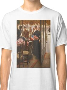 Vintage famous art - James Tissot - La Demoiselle De Magasin1878  Classic T-Shirt