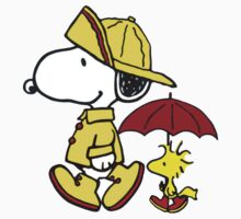 umbrella snoopy peanut Kids Tee