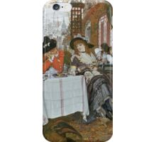 Vintage famous art - James Tissot - A Luncheon  iPhone Case/Skin