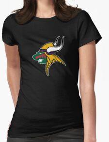 Minnesota Wild Vikings Womens Fitted T-Shirt