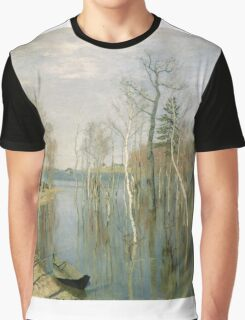 Vintage famous art - Isaak Levitan - Spring, High Water Graphic T-Shirt
