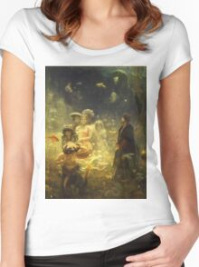 Vintage famous art - Ilya Repin - Sadko 1876 Women's Fitted Scoop T-Shirt