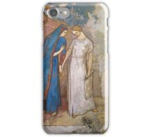 Vintage famous art - Odilon Redon - Initiation To Study - Two Young Ladies iPhone Case/Skin