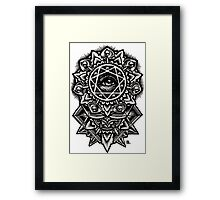 Eye of God Flower Mandala Framed Print