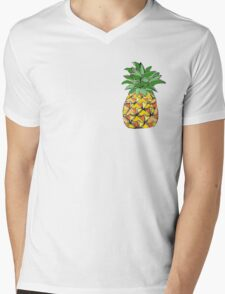 Picasso Pineapple Mens V-Neck T-Shirt