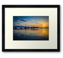 Sunset over the mediterranean sea, Haifa, Israel  Framed Print