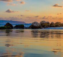Sunset over the mediterranean sea, Haifa, Israel  Sticker