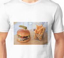 Wagyu Beef Burger with Cajun Fries Unisex T-Shirt