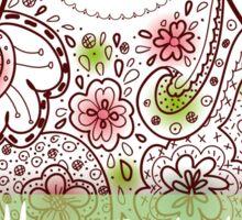Happy birthday card matrioshka  Sticker