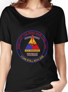 Military - 1st Ad Gray Hair Women's Relaxed Fit T-Shirt