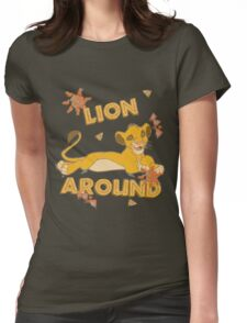 Simba - Lion King - Lion Around Womens Fitted T-Shirt