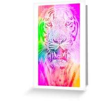 Tiger pink Greeting Card