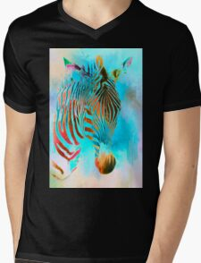 Zebra one Mens V-Neck T-Shirt