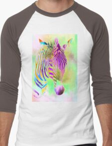 Zebra three Men's Baseball ¾ T-Shirt