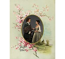 Outlander/Jamie and Claire frame Photographic Print
