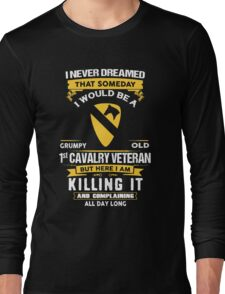 Military - 1st Cavalry Division Grumpy Long Sleeve T-Shirt